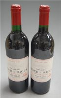 Lot 1048-Château Lynch-Bages 1989 Pauillac , two bottles