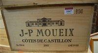 Lot 1047-Jean Pierre Moueix 2005 Cotes de Castillon,...