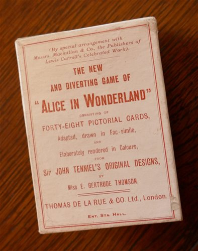 Lot 2014-Alice in Wonderland card game , Thomas De La Rue...