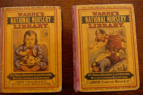 Lot 2021-Warne's National Nursery Library, two volumes,...