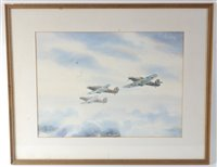 Lot 25-Stanley T. Gleed (20th century) Hurricanes on...