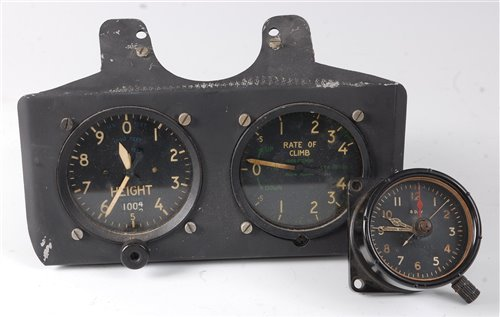 Lot 16-A Kelvin Hughes aircraft instrument panel Type...