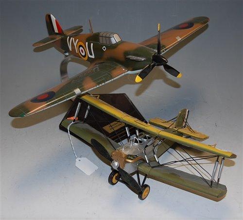 Lot 8-A replica model of an RAF Hawker Hurricane MkI;...