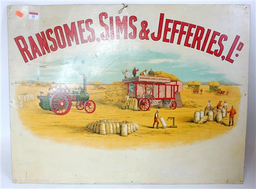 Lot 21-A very fine lithograph printed advertising sign...