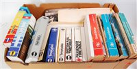 Lot 18-5 boxes of BR, DB and other company railway and...