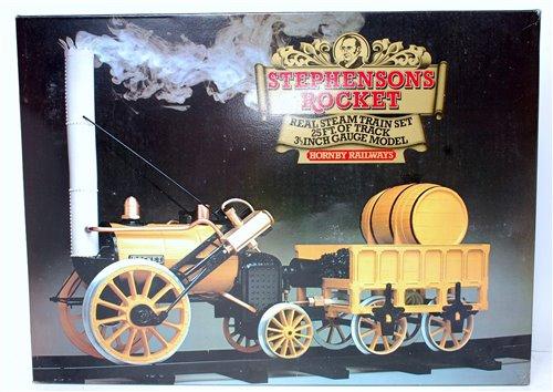 """Lot 14-A Hornby Stephensons Rocket, 3½"""" gauge train set..."""