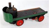 Lot 15-A live steam powered four wheel sentinel type...
