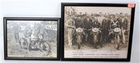 Lot 27-Two framed and glazed Junior TT and motorcycle...