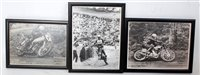 Lot 29-Three various motorcycle racing prints, one...