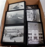 Lot 30-A collection of black & white aircraft and Royal...