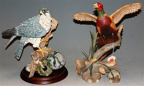 Lot 1-A modern Franklin Mint porcelain model of a...