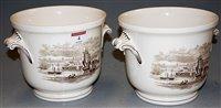 Lot 4-A pair of Copeland Spode cache pots, each...