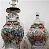 Lot 5-A large 19th century Chinese vase of baluster...