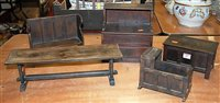 Lot 14-A 20th century apprentice piece carved pine...