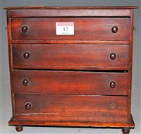 Lot 17-A Victorian mahogany apprentice piece chest of...