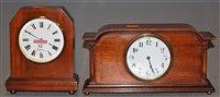 Lot 32-An Edwardian mahogany and boxwood strung mantel...