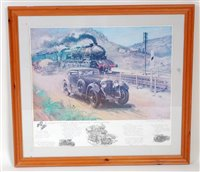 "Lot 33-A Cuneo framed and glazed print titled ""Bentley v ..."