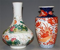 Lot 37-A Chinese bottle vase enamel decorated with birds ...
