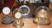 Lot 46-A 1950s bakelite cased mantel clock having a...