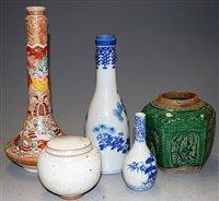 Lot 48-A Japanese Meiji period satsuma bottle vase,...