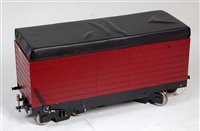 Lot 38-7.25 inch bogie riding trolley with large storage ...