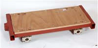 Lot 39-7.25 inch gauge 4 wheel sprung trolley with heavy ...