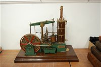 Lot 46-A finely built vintage beam engine titled WJS...