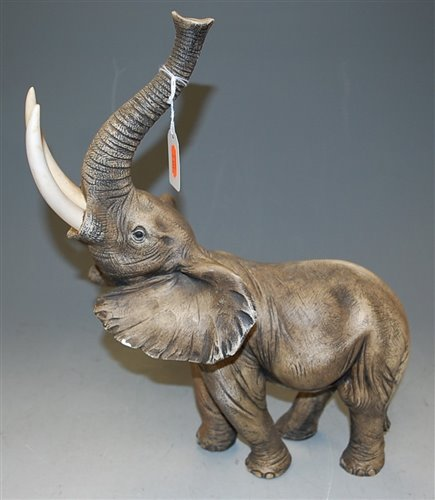 Lot 19-A large resin figure of an elephant