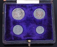 Lot 2013-Great Britain, 1904 Maundy Money four-coin set,...