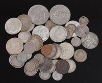 Lot 2018-Mixed lot of silver and other world coins, to...