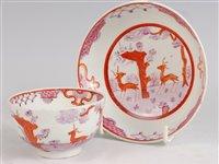 Lot 1088 - A Lowestoft porcelain tea bowl and stand,...