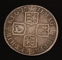 Lot 2006-Great Britain, 1711 shilling, Queen Anne draped...