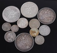 Lot 2024-Mixed lot of silver British and world coins, to...