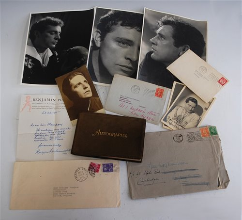 Lot 524-Collection of signed letters and photographs, to...