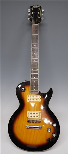 Lot 503-A six-string electric sunburst guitar by...