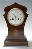 Lot 10-An Edwardian mahogany and satinwood inlaid cased...