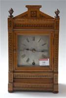 Lot 14-A late 19th century German walnut cased and...