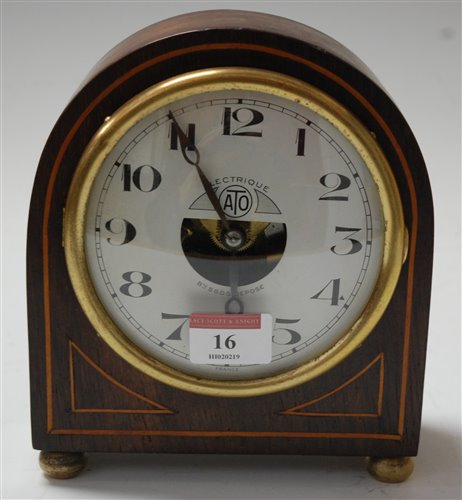 Lot 16-An early 20th century French rosewood cased...