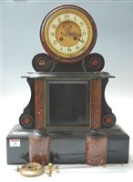 Lot 18-A large late 19th century black slate and rouge...