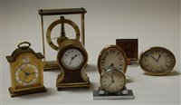 Lot 21-An early 20th century burr walnut and brass cased ...