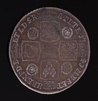Lot 2009-Great Britain, 1741 rose shilling, George II...
