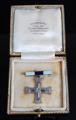 Lot 1-A George V Military Cross Widow's brooch in white ...