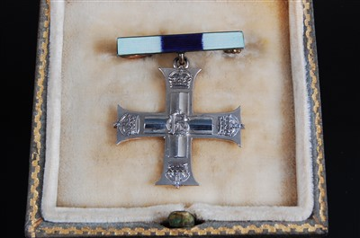 Lot 1-A George V Military Cross Widow's brooch in...