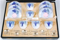 Lot 1031-*A cased set of six Royal Worcester coffee cups...