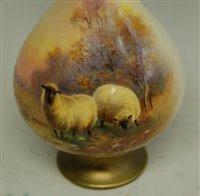 Lot 1036-*A Royal Worcester porcelain vase, having...