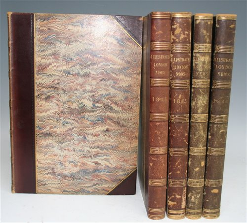 Lot 1018-Illustrated London News. Vols 1-5 (May 1842 to...