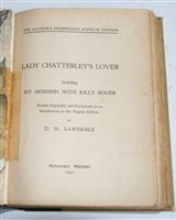 Lot 1021-*Lawrence, David Herbert. Lady Chatterley's Lover,...
