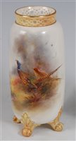 Lot 1041 - *A Royal Worcester porcelain vase, of...