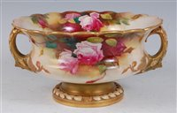 Lot 1056-*A large Royal Worcester bowl, of squat circular...