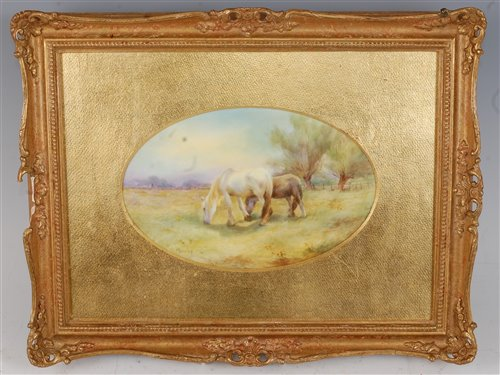 Lot 1045-*A Royal Worcester porcelain plaque, hand-painted ...
